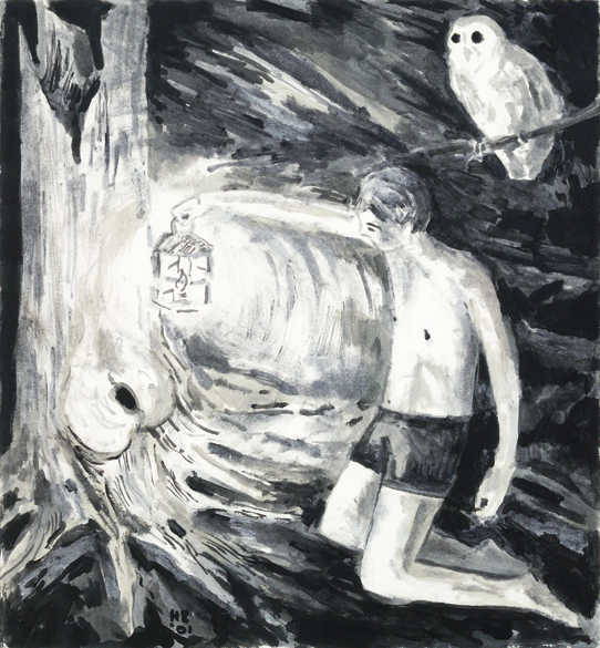 Hernan Bas -Mystery of the Hollow Oak, 2001. The Rubell Family Collection, Miami