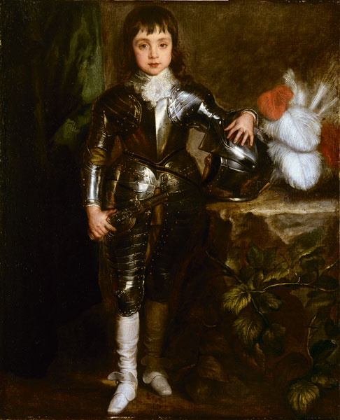 Van Dyck-Charles II as Prince of Wales in amour-ca.1637-38