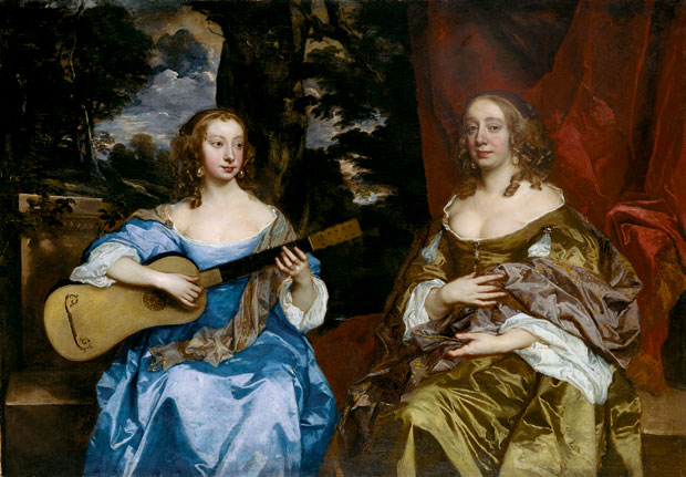 Peter Lely-Two Ladies of the Lake Family-c.1660
