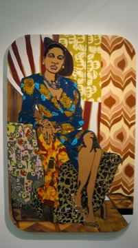 "Mickalene Thomas, ""Portrait of Aaliyah, Night on the Town"", 2009, Susanne Vielmetter Los Angeles Projects Los Angeles"