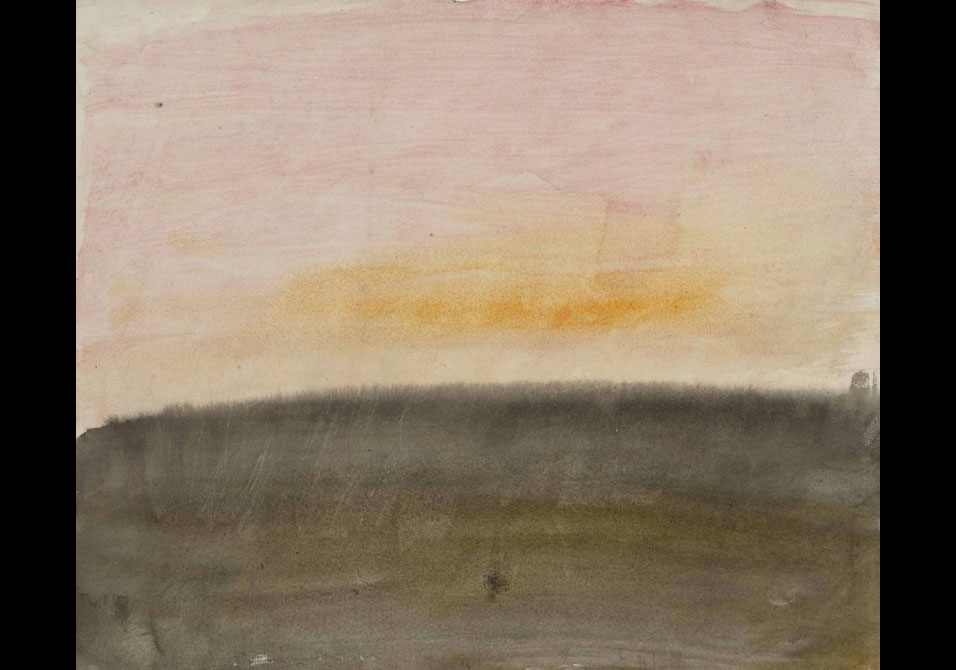 JMW Turner-A Pink Sky Above Sea-1822