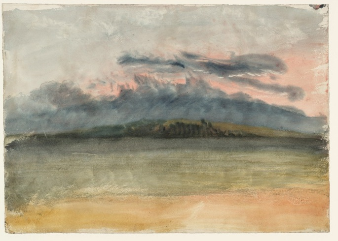 JMW Turner-Storm Clouds. Sunset with a Pink Sky-1833