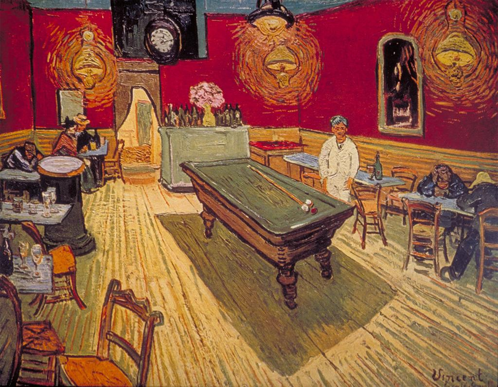 Vincent van Gogh, The Night Cafe, 1888, Via ARTstor Collections