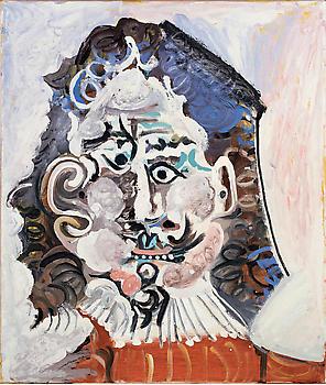 Pablo Picasso-Tete d'home du 17eme siecle de face-1967