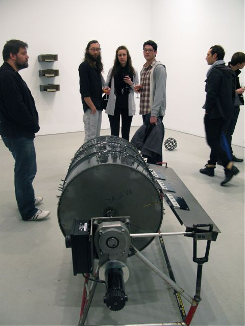 Adel Abdessemed, Music box (foreground), 2009 and Prostitute (background), 2008
