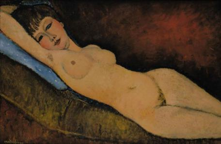 Amedeo Modigliani, Nu Couché au Coussin Bleu, 1916, Via The Independent