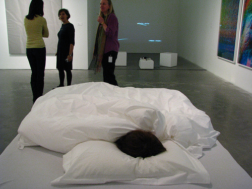 Chu Yun, This Is Anna, 2009, female participant, sleeping pill and bed, Via C-Monster
