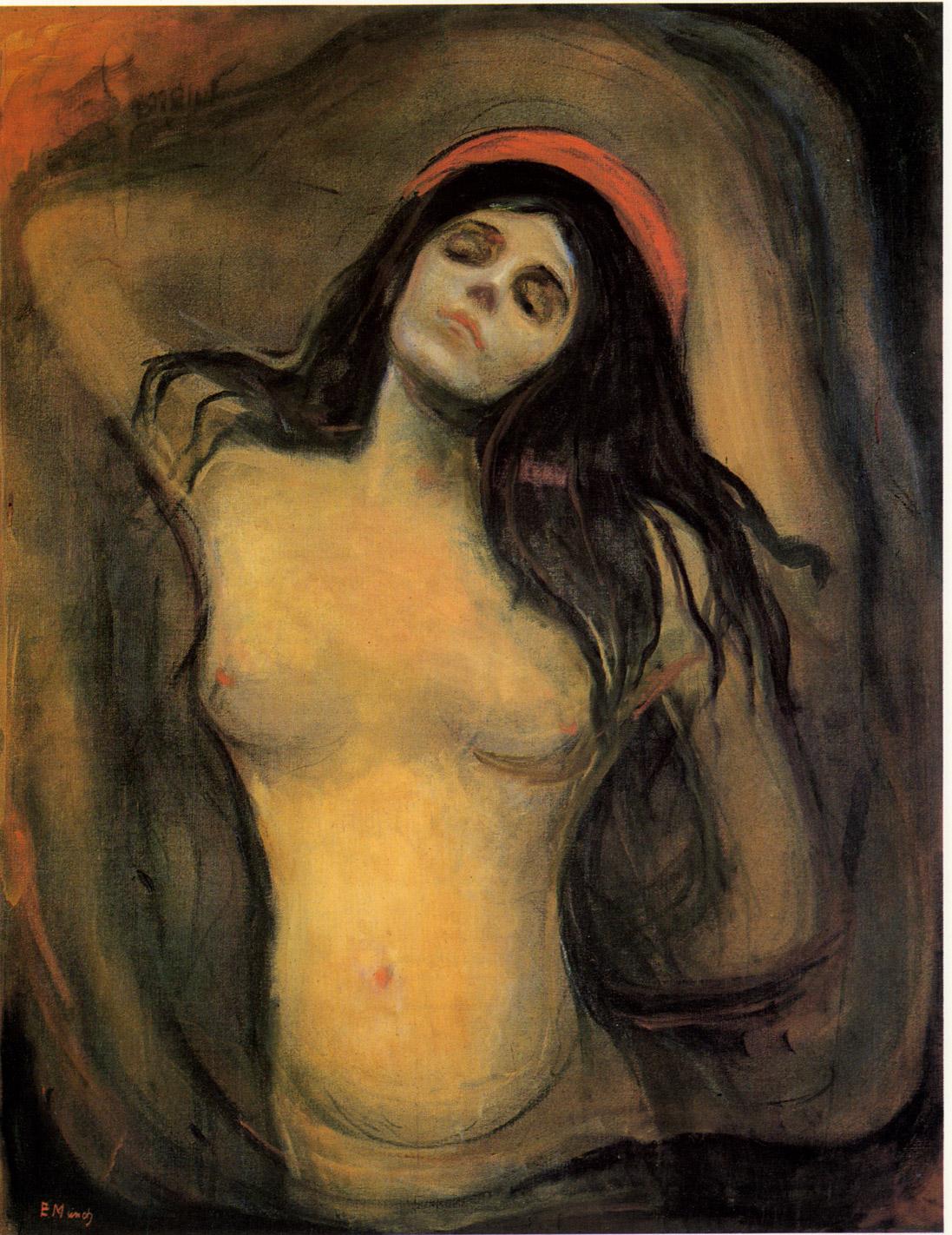 Edvard Munch, Madonna, 1895-97, Via Edvard Munch.com