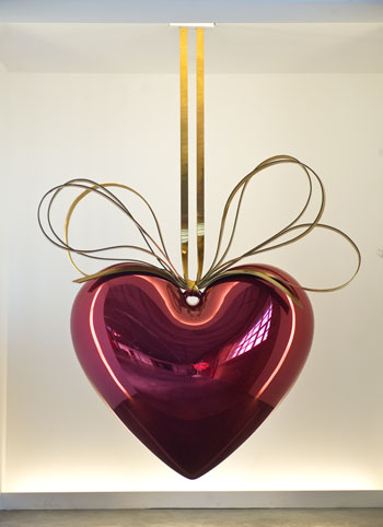 Jeff Koons, Hanging Heart, 1994-2006, Via Saatchi Gallery