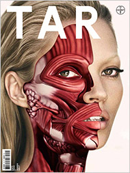 Kate Moss by Damien Hirst on the cover of Tar Art Magazine, Via New York Times