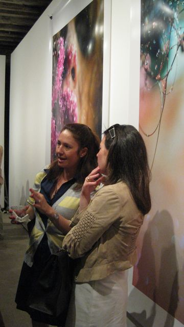 (left) Marilyn Minter, Chewing Pink, 2008 (right) Cobweb, 2009. Photo by Art Observed.