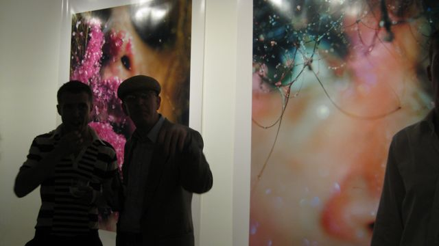 (left) Marilyn Minter, Chewing Pink, 2008 (right) Cobweb, 2009