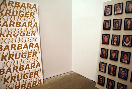 Matt Keegan, Barbara Kruger, 2008 and 23 Portraits of 22 year-olds, 2008