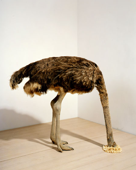 Maurizio Cattelan, Ostrich, 1997, Via the Garage Center for Contemporary Culture