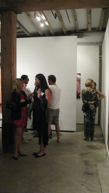 Opening Marilyn Minter - Grink Pink Caviar at Salon 94 Freemans. Photo by Art Observed.