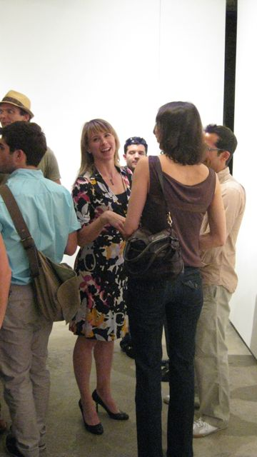 Opening Marilyn Minter - Green Pink Caviar at Salon 94 Freemans. Photo by Art Observed.