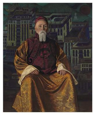 portrait-of-nicholas-roerich-in-a-tibetan-robe-christies