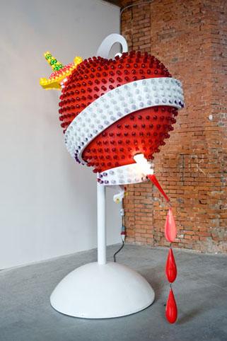 Tim Noble & Sue Webster, Sacrificial Heart, 2007, Via Saatchi Gallery