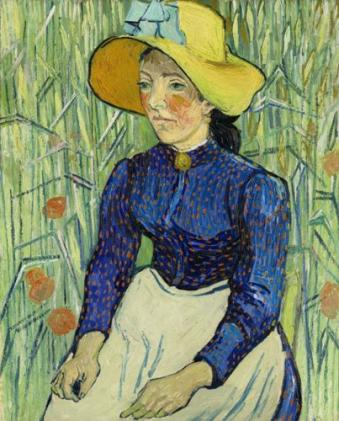 Vincent Van Gogh, Portrait of a Young Peasant Girl, 1890, Via The Independent
