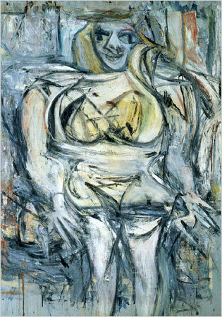 Willem de Kooning, Woman III, 1952-53, Via New York Times