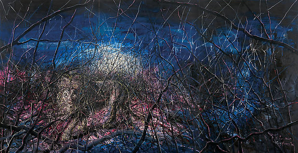 "Zeng Fanzhi, ""Lion"", 2008, Via Acquavella Galleries"