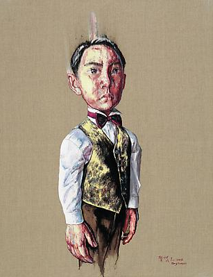 "Zeng Fanzhi, ""Portrait 08-12-1"", 2008, Via Acquavella Galleries"