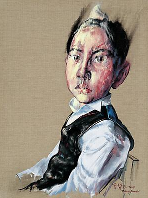 "Zeng Fanzhi, ""Portrait 08-12-2"", 2008, Via Acquavella Galleries"