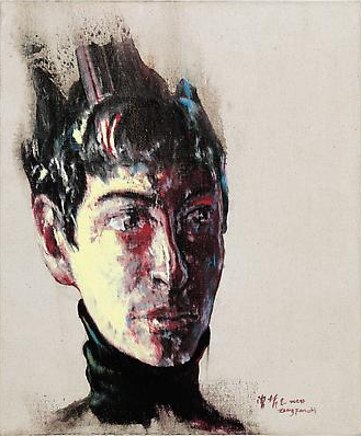 "Zeng Fanzhi, ""Portrait 08-12-4"", 2008, Via Acquavella Galleries"