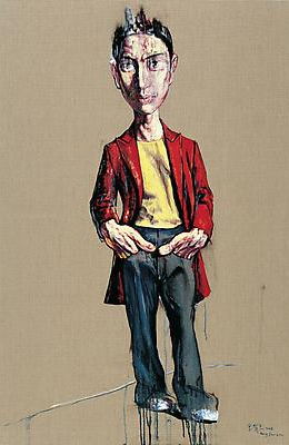 "Zeng Fanzhi, ""Portrait 08-12-6"", 2008, Via Acquavella Galleries"