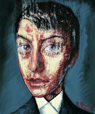 "Zeng Fanzhi, ""Portrait 08-7-9"", 2008, Via Acquavella Galleries"