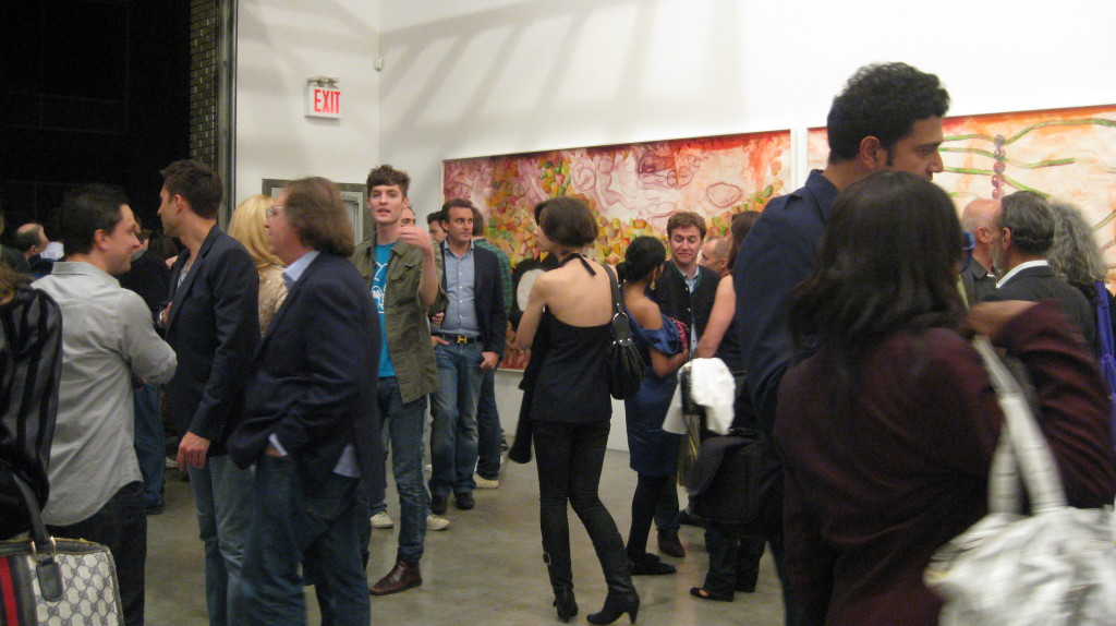 Opening Francesco Clemente's A History of the Heart in Three Rainbows at Deitch Projects. Photo by Art Observed.