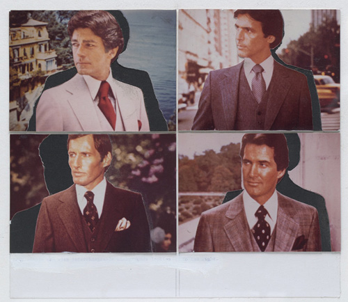 Untitled-Four Single Men with Interchangeable Backgrounds looking to the right-1977