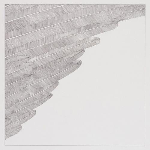 Matt Mullican-Framed Section of an Angel's Wing-1978