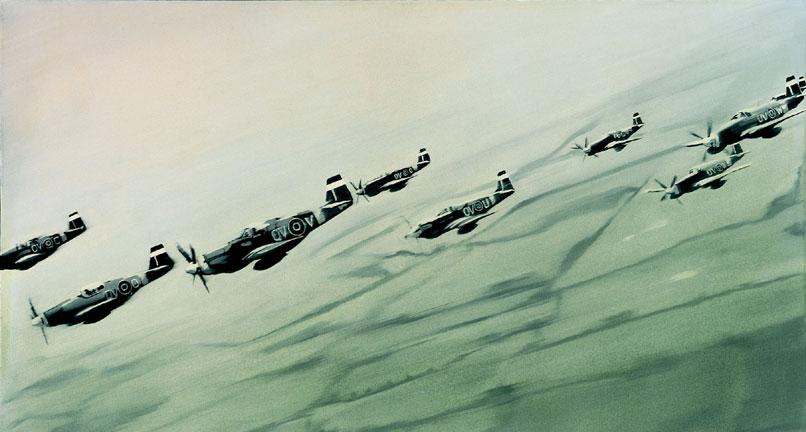 Gerhard Richter, Mustang-Staffel