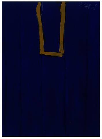 Robert Motherwell, Untitled (Ultramarine and Ochre Open)