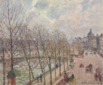 Camille Pissarro - Le Quai Malaquais et l'Institut