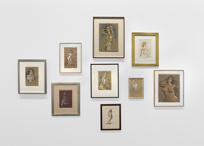 John Currin Installation View 1