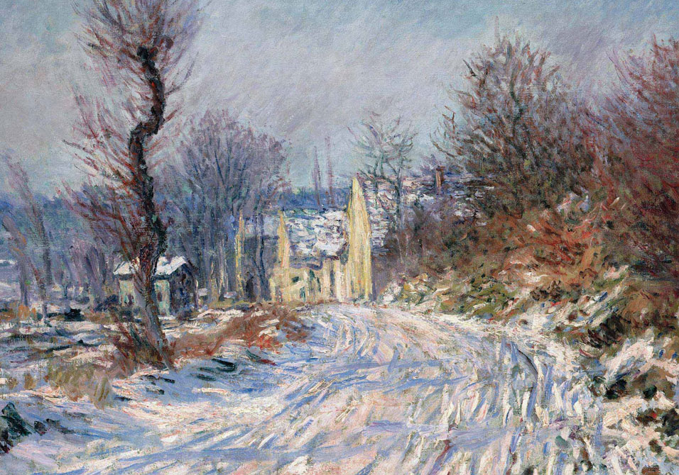 Monet - Route de Giverny en hiver