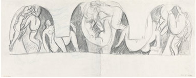 Henri Matisse, La Danse - deuxiéme versión, étde d'ensemble (Study for the Dance Mural Composition, second version)