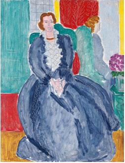 Henri Matisse, La Robe bleue refletée dans la glace