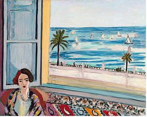 Henri Matisse, Femme assise, le dos torné vers la fenêtre ouverte