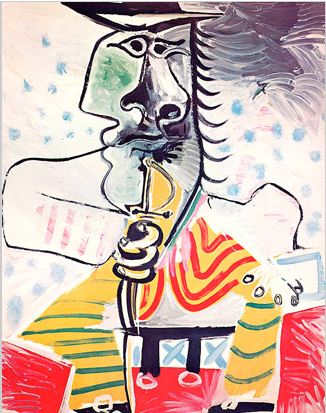 picasso man with sword christies
