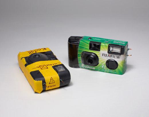 Tom Sachs Cameras, Stun Guns, The Aldrich contemporary ARt Museum