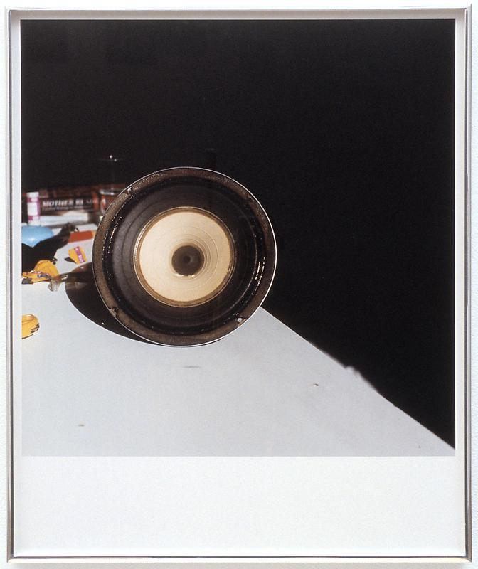 moyra davey, untitled (speaker), white noise, James cohan gallery