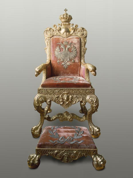 ssian throne with double-headed eagle and footstool, Hermitage Amsterdam, At the Russian Court