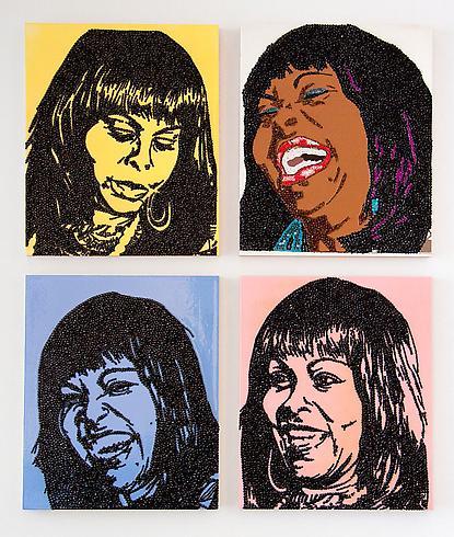 Mickalene Thomas, A-E-I-O-U And Sometimes Y, The Female Gaze: Women Look at Women, Cheim & Read