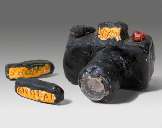 Tom Sachs, Untitled (Nikon), Cameras, The Adrich Contemporary Art Museum