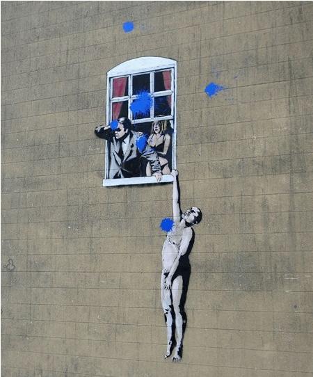 Banksy Bristol Mural vandalized
