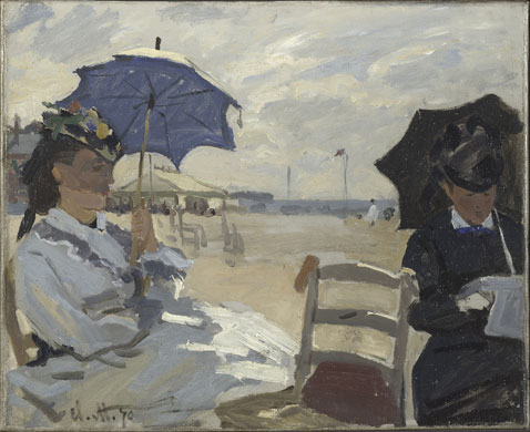 Corot to Monet National Gallery The beach at Trouville