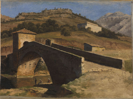 Corot to Monet The National Gallery Bridge at Subiaco Jean-Antoine Constantin